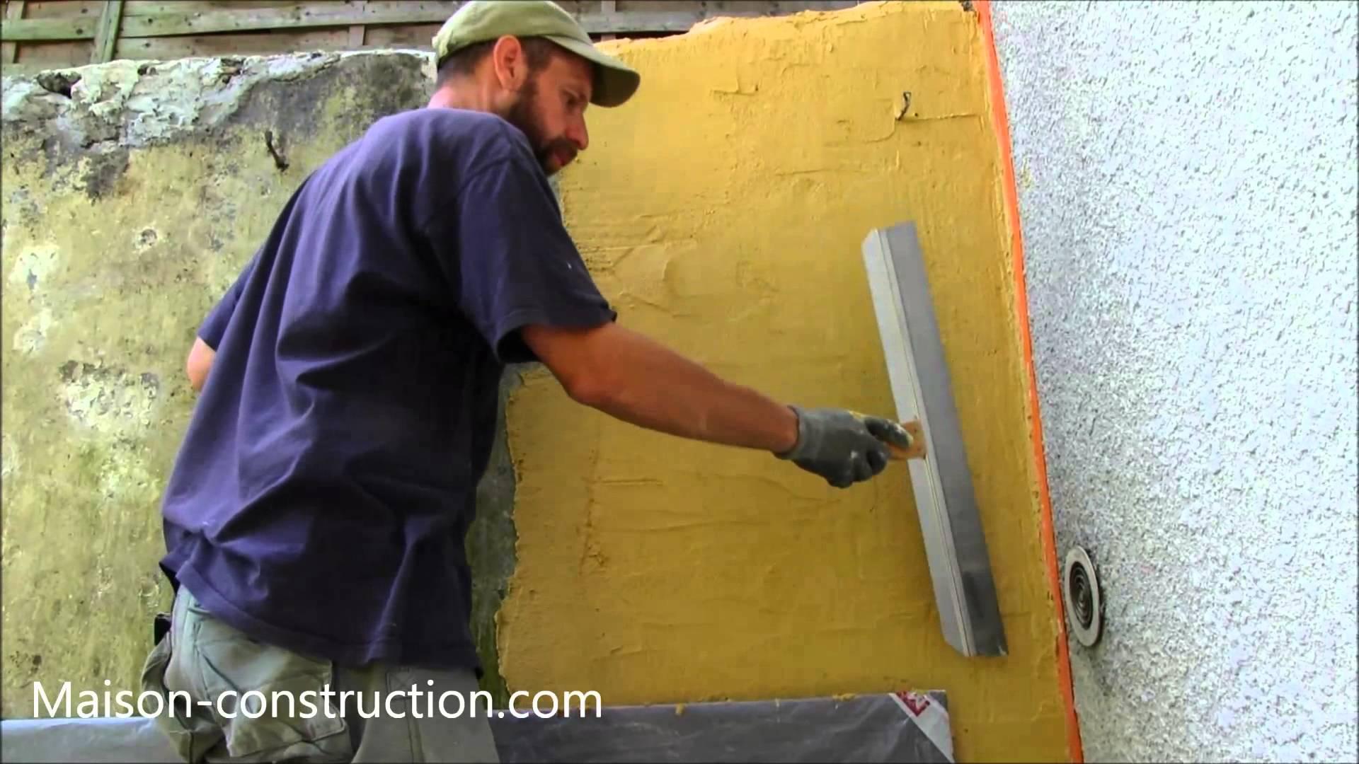 Comment enduire un mur exterieur - Comment peindre un mur exterieur ...