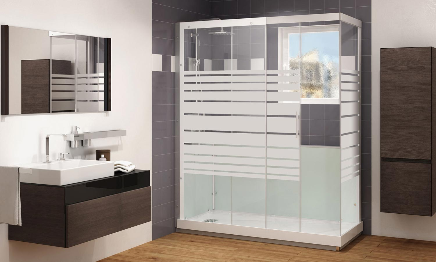 comment installer une cabine de douche. Black Bedroom Furniture Sets. Home Design Ideas